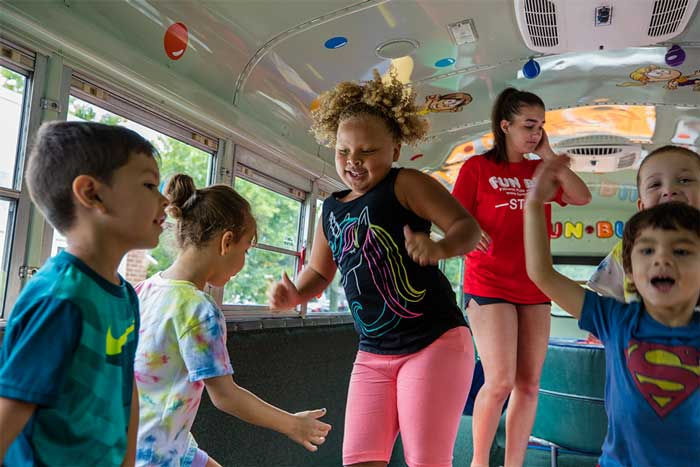 How FUN BUS Moves Children Off The Screens and On Their Feet!