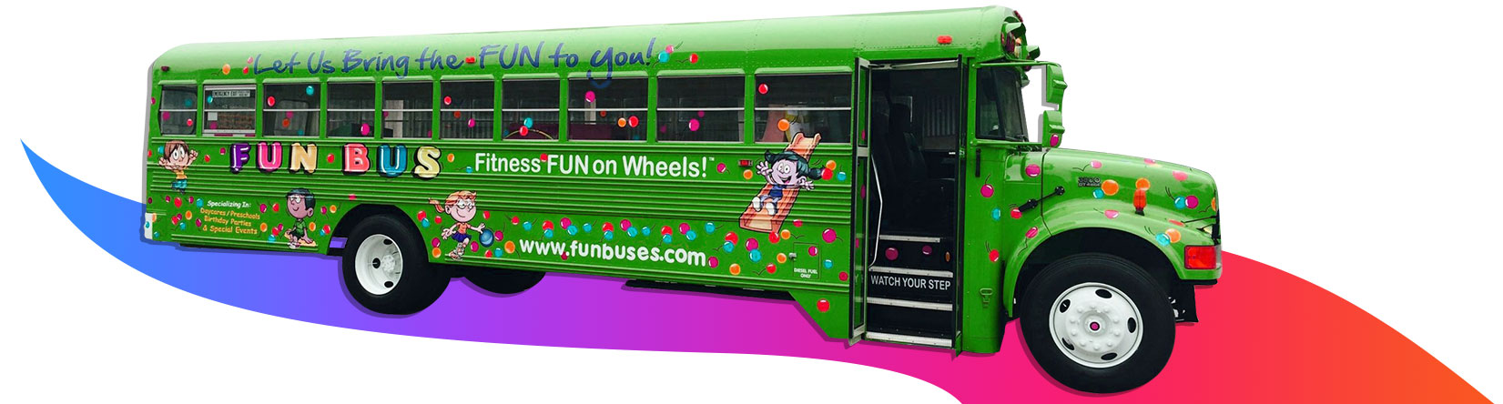 fun bus kids party bus Taunton