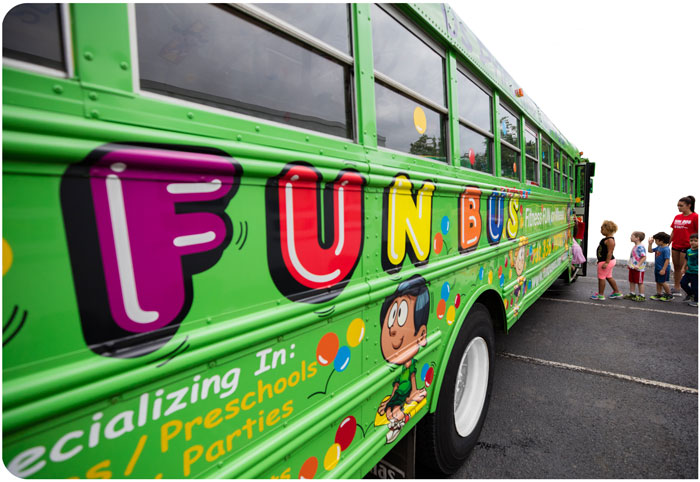 Indoor Playground Franchise Green Bus