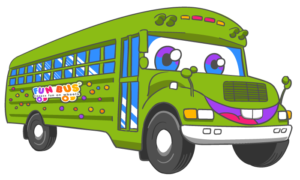 Fun Bus Cartoon for an indoor playground franchsie