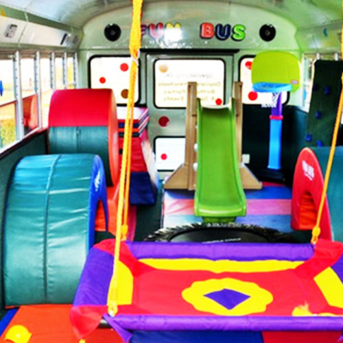 mobile birthday party bus